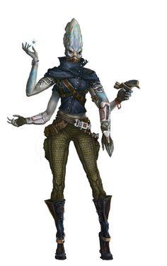 Solstarni, Kasatha Envoy - Starfinder RPG (Dead Suns 2 art)