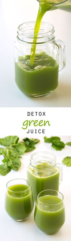 (Vegan and GF) Detox Green Juice #vegan #glutenfree