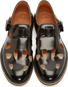 Paul Smith Black Cut-Out Ross Shoes
