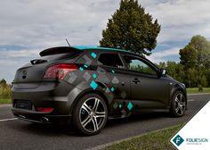 Fahrzeugfolierung • KIA cee'd [only squares wrapped by FOLIESIGN • www.foliesign.de] #CarWrapping #KIA