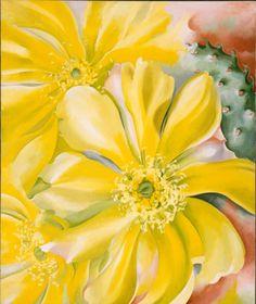 Yellow Cavtus - Georgia O'Keeffe 1935 American 1887-1986