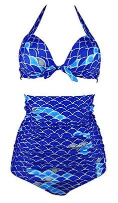 Cocoship Blue & Aqua Sea Scales Women's Halter High Waist... https://www.amazon.com/dp/B01M6CDLIP/ref=cm_sw_r_pi_dp_x_jMbEyb97XMYGE