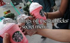 Justgirlythings. My fave is the Captain Crunch frappe. It's so sweet but tastes amazing!