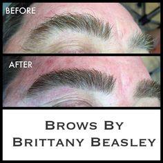 Guys need some brow love too am I right??! He got the works: brow tint, wax, trim, and tweeze.
