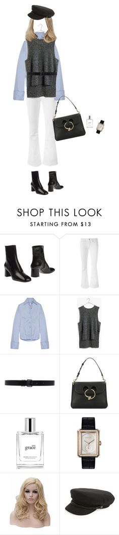 """""""Untitled #3719"""" by memoiree ❤ liked on Polyvore featuring Prada, Dondup, Marques'Almeida, Madewell, Ann Demeulemeester, J.W. Anderson, philosophy, Chanel and Brixton"""