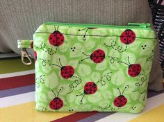 Lady Bug Zippered Pouch/Coin Purse by JuliesJewelz086 on Etsy