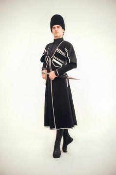 Circassian man in traditional costume