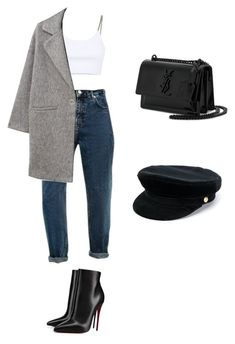 """Başlıksız #102"" by dilrubassmrn ❤ liked on Polyvore featuring Alexander Wang, MANGO, Christian Louboutin, Yves Saint Laurent and Manokhi"