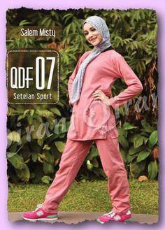 Qirani Fresh QDF-07 Salem Misty  Model :   QDF-07 Salem Misty  Qirani Fresh Model QDF-07  Harga : Rp 240.000,- Qirani Dewasa Fresh 07  Bahan : Combed 20s Pilihan Warna : Hijau Toska, Salem  Size :  (S, M, L, XL, XXL, XXXL) (XXL, XXXL + Rp. 15.000,-)