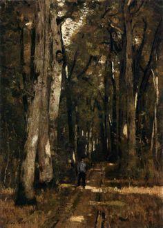 "centuriespast: "" PAÁL, László In the Forest of Fontainebleau 1876 Oil on canvas, 92 x 63 cm Magyar Nemzeti Galéria, Budapest "" Art For Art Sake, Artist Painting, Oil On Canvas, Budapest, Contemporary Art, Past, Fine Art, Master Art, Forests"