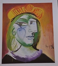 """Woman with Beret by Pablo Picasso Fine Art Print 17"""" x 11"""""""