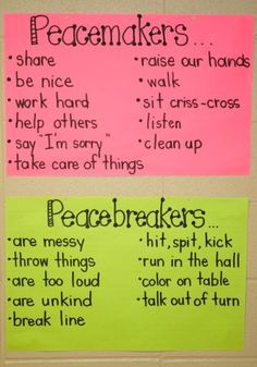 Peacemakers and peacebreakers