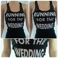 Running for the wedding tank top. Bride tank. by Bridalmefancy, $18.00