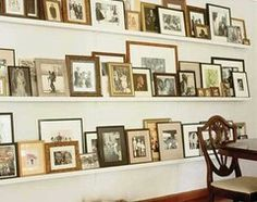 For the antique photos of family How to Design a Family Photo Wall