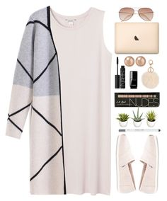 """""""Look 1 (03/10/2016)"""" by aneetaalex ❤ liked on Polyvore featuring Monki, TOMS, NARS Cosmetics, Chanel, Urban Decay, Bloomingdale's and H&M"""