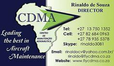 BUSINESS CARD DESIGN -  CDMA Aircraft Maintenance KMIA Mpumalanga Int.