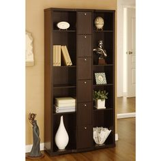 @Overstock.com - Parke 10-shelf Bookcase/Display Stand - Add a stylish storage and display option to any room in your home with this red cocoa bookcase. It features 10 shelves to give you plenty of space to show off your knickknacks and books, while six compartments allow you to hide items from view.  http://www.overstock.com/Home-Garden/Parke-10-shelf-Bookcase-Display-Stand/5735848/product.html?CID=214117 $287.99