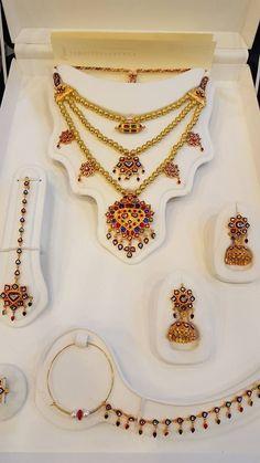 #GoldJewelleryArabic Gold Wedding Jewelry, Bridal Jewelry, Jewelery, Silver Jewelry, Pakistani Bridal Couture, Pakistani Bridal Makeup, Jewelry Patterns, Antique Silver, Jewelry Collection