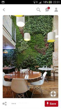 Living Green Wall   Interior Restaurant Decor   Interior Design With Indoor  Plants   Plant Inspiration   Outdoor Living Garden Decor Δ The Wild Arcadia