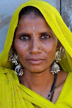 India - Gujarat  Tribal Bhil woman.