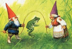 Art Print by Rien Poortvliet Gnome elf David por CuteEyeCatchers