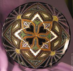 Купить Декоративная тарелка Gold fountain - чёрный, подарок на любой случай, оригинальный сувенир
