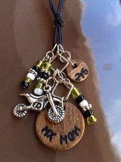 CUSTOM MX Mom Wood Charm Necklace by WeWaBu on Etsy, $15.00