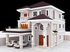 new house options Exterior Villa Projects of Komnit Rachna is a Khmer Company in Phnom Penh Cambodia. House Plans Mansion, Duplex House Plans, Bungalow House Design, Dream House Plans, Modern House Plans, Dream Houses, Duplex Design, Classic House Design, Unique House Design