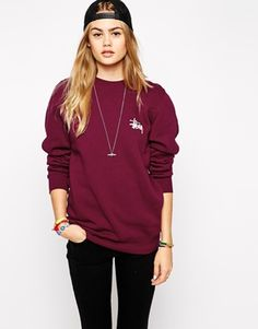 Stussy – Sweatshirt mit charakteristischem Logoprint asos