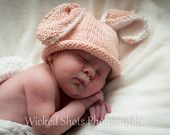 Easter Bunny Hat for Infant Pink sweet little bunny hat Newborn Bunny Ears Photo prop