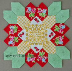 Sew and Sow Farm: Lucy Boston Patchwork of The Crosses and the Easter Bunny!