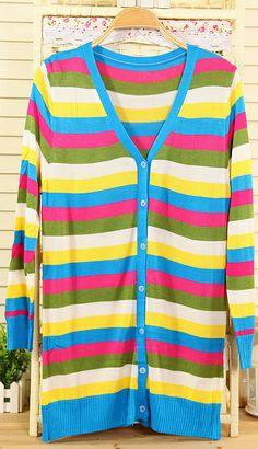 Korean strips Slim sweaters M309