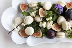 Macaroons and figs by Nicole Franzen Photography