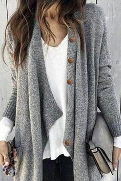 Ellafancy Casual Long shrug Coat fall outfits with scarves Mode Outfits, Stylish Outfits, Fall Outfits, Fashion Outfits, Fashion Trends, Work Fashion, Unique Fashion, Fashion Ideas, Fashion 2018