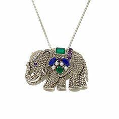 "Nicky Butler Multigem ""Elephant"" Pin/Pendant"