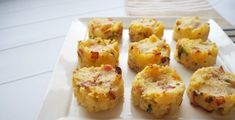Baked Bacon Cheese and Potato Cakes Cobb Loaf, Loaf Recipes, Potato Cakes, Savory Snacks, Vegan Dinners, Baked Potato, Food Print, Food To Make, Bacon