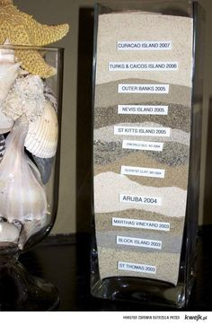 holiday memories - sand samples from different countries, awesome!