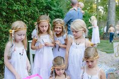 Have all the girls in miss match white dresses floral crowns boho braided headbands 😍 Pow Wow Party, 3rd Birthday, Birthday Parties, Braided Headbands, Bohemian Theme, Miss Match, Floral Crowns, White Floral Dress, India
