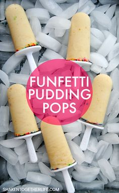 Funfetti Pudding Pops will give birthday cake a run for its money! Creamy pudding, Funfetti cake mix and whipped topping are blended for these frosty treats! {And get 4 delicious ways to use the rest of the cake mix!}