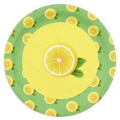 """#party - #9"""" Paper Plates-Lemon Paper Plate"""