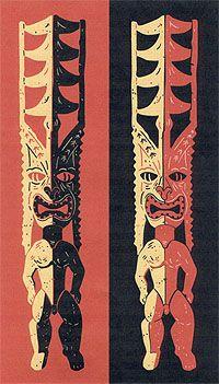Tiki artwork by Michael Uhlenkott