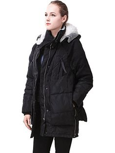 Miya womens Thickened Hooded Down Jacket Women Long Overcoat For Women Coat *** Click on the image for additional details.