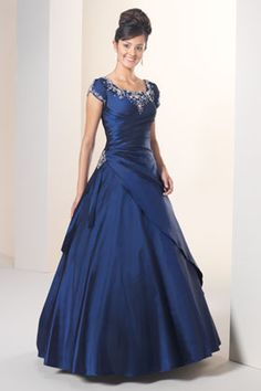 I'd love to wear this dress! Even fits my profile for a bridesmaid dress...