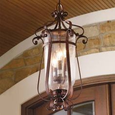 Our Anastasia Outdoor Lighting features sweeping curves and a graceful teardrop design. Hammered glass renders these outdoor lights an eye-catching addition to your home's exterior. Sturdy cast-aluminum construction designed for years of serviceHand-applied finishes will gain an even richer character with timeProfessional installation recommended for hard-wired lighting