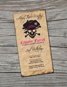 Invitation Pirate fille