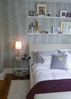 How to birch tree mural. So beautiful....good for a nursery or bedroom. Definitely going to try this someday.