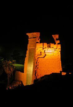 Light show at Karnak Temple, Luxor, Egypt.