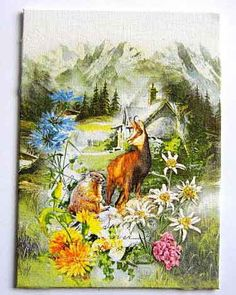 4 x Single Table Paper Napkins / Craft / Party / Decoupage / Forest Home Crafts, Diy Crafts, Paper Napkins For Decoupage, Printable Paper, Craft Party, Slate, Montana, Free Images, Craft Supplies