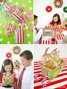 Bird's Party Blog: Kids' Holiday Table - Part 1: Candyland Table + FREEBIES