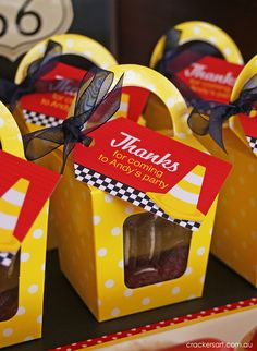 Favors at a Cars Party #cars #partyfavors